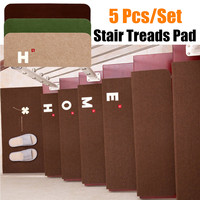 3 Colors 5PCS Non Slip Staircase Pads Step Mats Set Stair Carpet Treads Anti Scratch Wipe Staircase Area Rugs Home Textiles