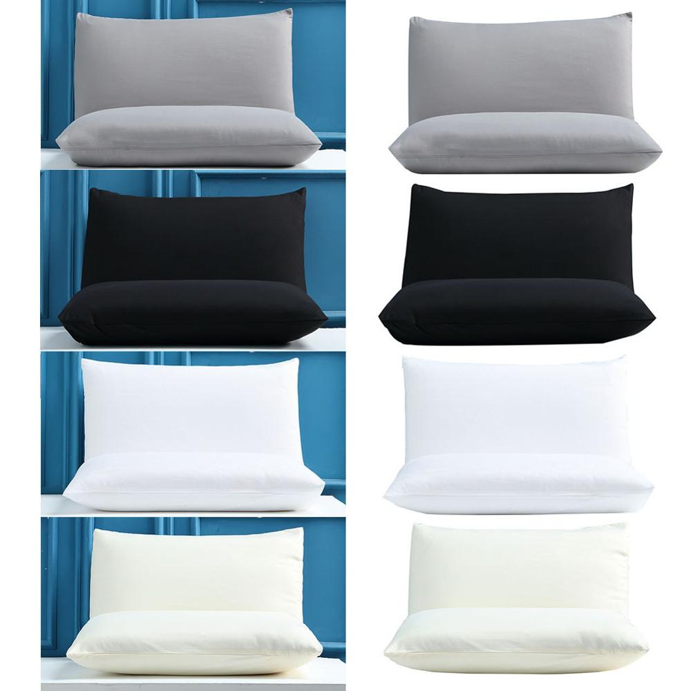 Cushion Cover home Hotel Plastic Cover Waterproof Zipper Protector Waterproof Pillow Protector Solid Color Home Bed Pillowcase in Chair Cover from Home Garden