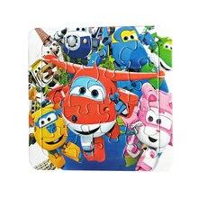 퍼즐 아기를위한 어린이를위한 유명한 만화 슈퍼 날개 교육 장난감 16 PCS 퍼즐 게임 무료 배송 아이 장난감