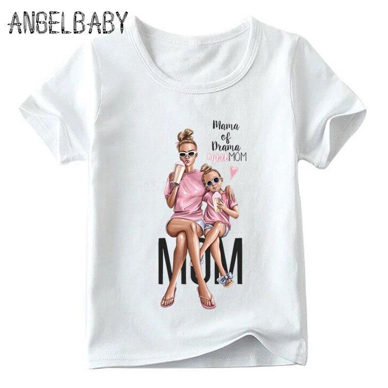 Одинаковые комплекты для семьи футболка для мальчиков и девочек с принтом супермамы и дочки одежда для подарка на День Матери Забавные футболки для детей и женщин - Цвет: 5281D