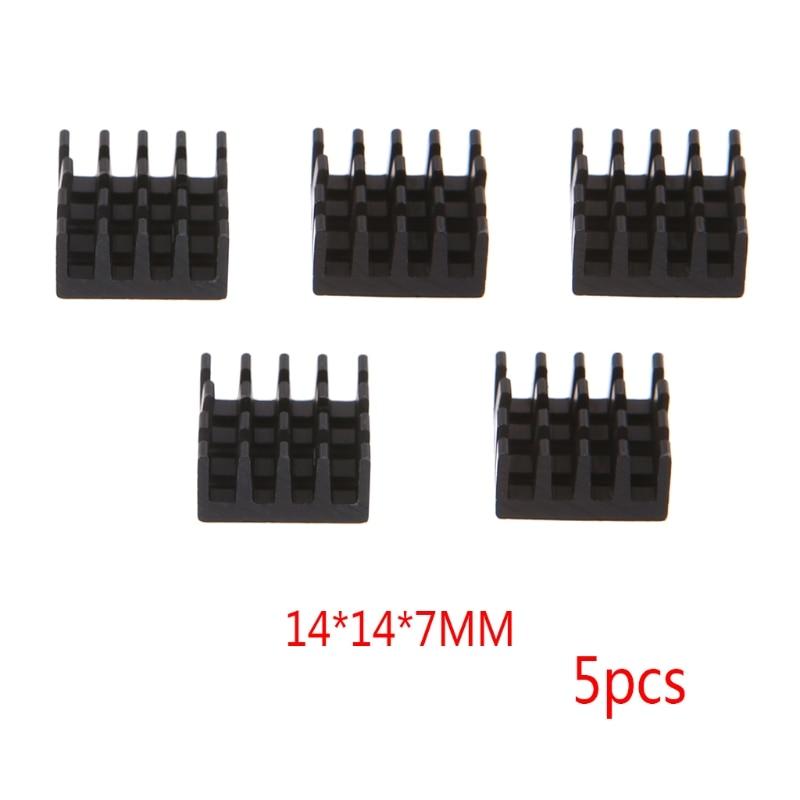 5 Pcs/Set 14*14*7mm Aluminum Heatsink Block Computer Electronic Chip Cooling