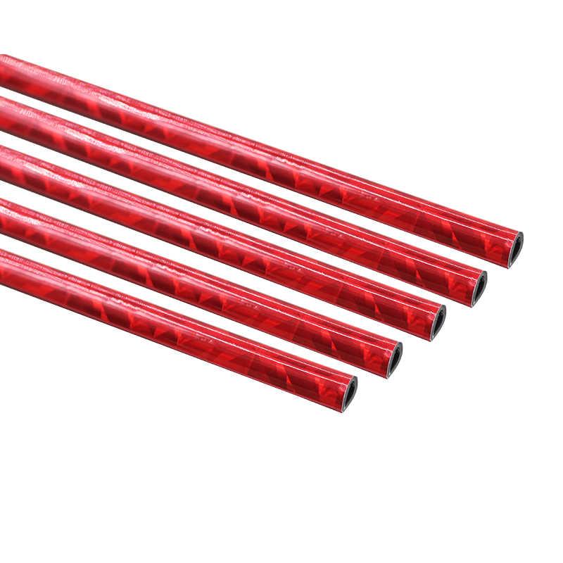 Cawanerl 200 CM Araba Dış Tampon Izgarası Kapı Klima Çıkış Havalandırma Kırmızı krom trim Dekorasyon Şerit Sticker Araba Styling