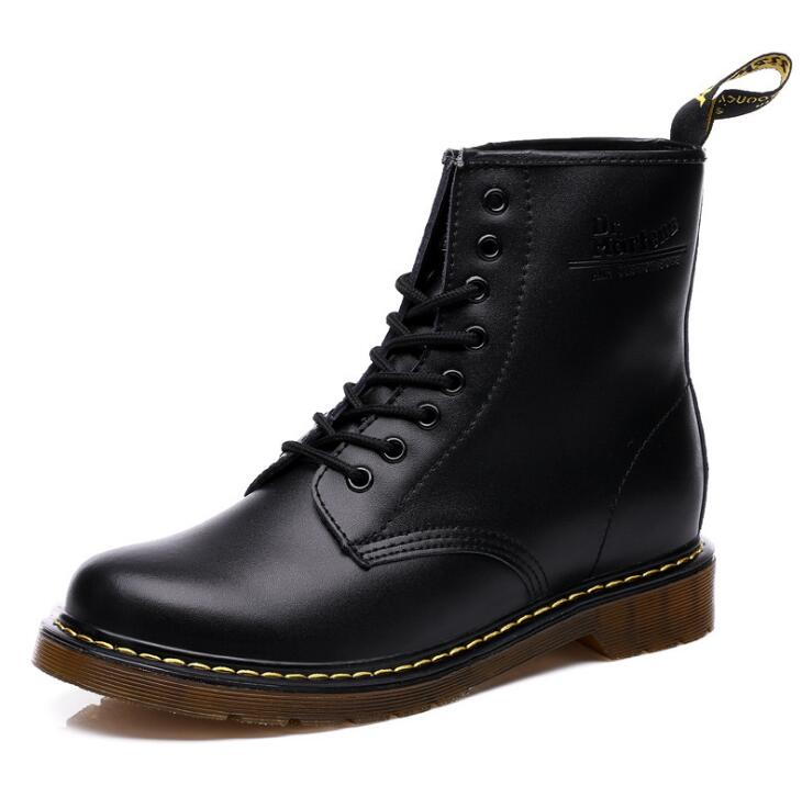 Top quality split Leather Women Boots Brand Snow Boots Warm Comfortable Women Shoes Dr Martins with box ST324