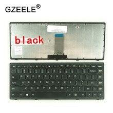 GZEELE новая клавиатура для ноутбука США для lenovo G400S G405S S410p G400AS G410s Z410 g405s FLEX14A FLEX14g Flex 14D черная Серебристая Рамка