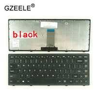 GZEELE new US laptop keyboard For Lenovo G400S G405S S410p G400AS G410s Z410 g405s FLEX14A FLEX14g Flex 14D black silver frame