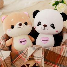 Cartoon Lovely Panda Rabbit Soft Plush Toy Stuffed Animal Toys Plush Doll Best Gift For Baby Kids fancytrader large plush bunny doll lovely soft stuffed cartoon rabbit kids toys gifts pink purple for chilren 100cm