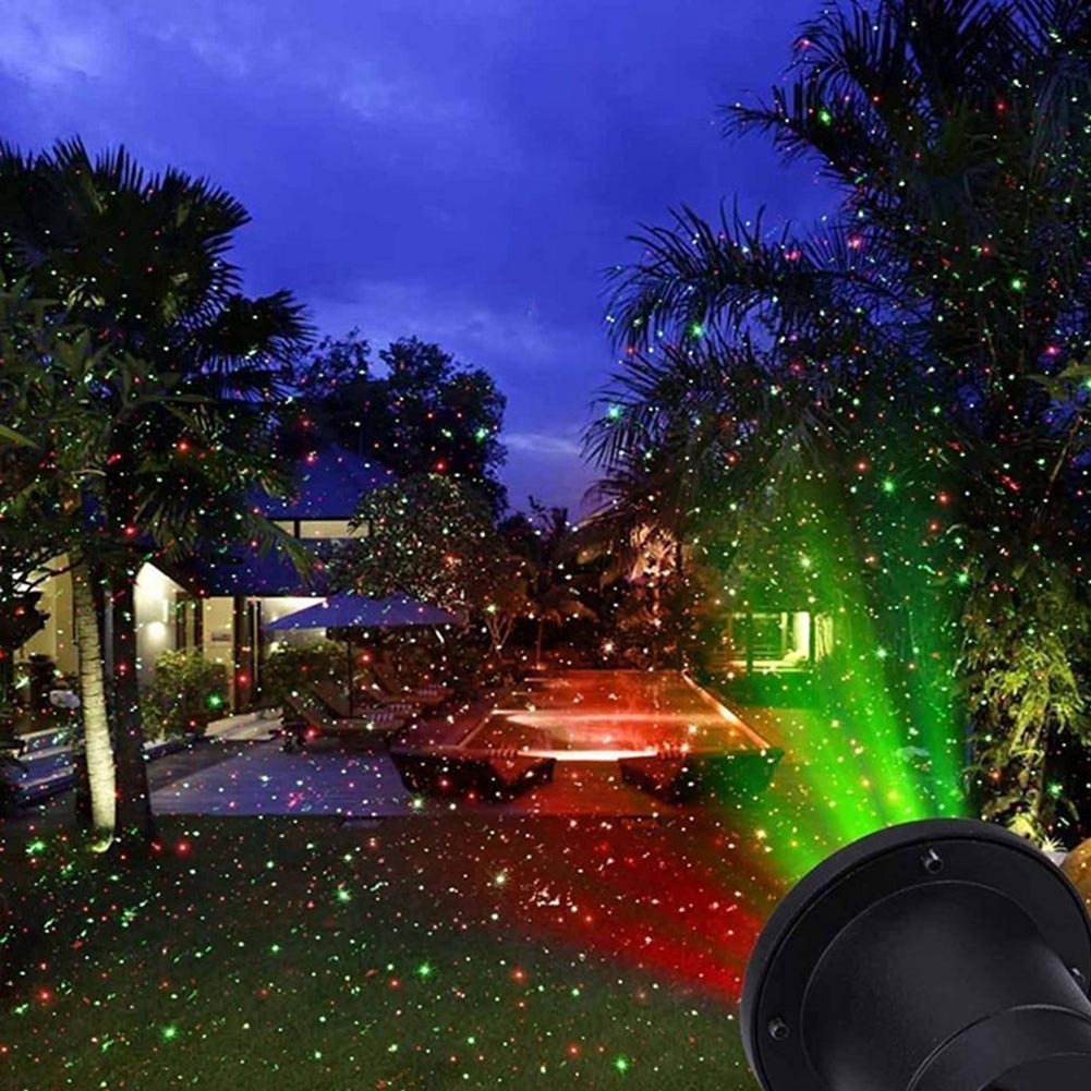 Outdoor Moving Projector Light Laser LED Garden Waterproof Christmas Stage Lights Lamp QP2