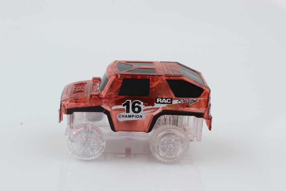 Electronic LED Car Toys Flashing Lights Boys Gift Mini Race Track ...