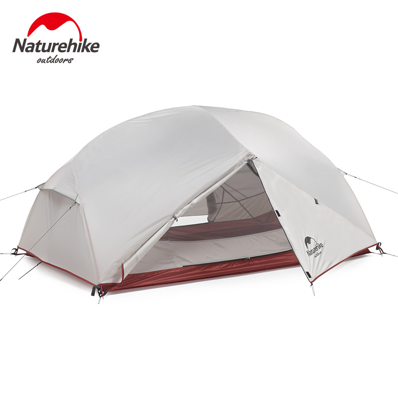 Naturehike 2 3 Person Ultralight Camping Tent Waterproof Double Layer 3 Season Hiking Tourist Outdoor Tent with Mat NH18M010-J