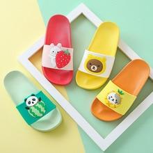 Детские тапочки с героями мультфильмов; летние пляжные сандалии для девочек; Вьетнамки для ванной; домашние Вьетнамки для маленьких мальчиков; домашняя обувь для малышей