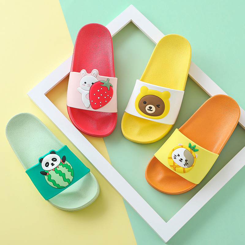 Children Cartoon Slippers Girls Summer Beach Sandals Kids Bathroom Flip Flops Toddler Boys Indoor Flip Flops Baby Home Shoes