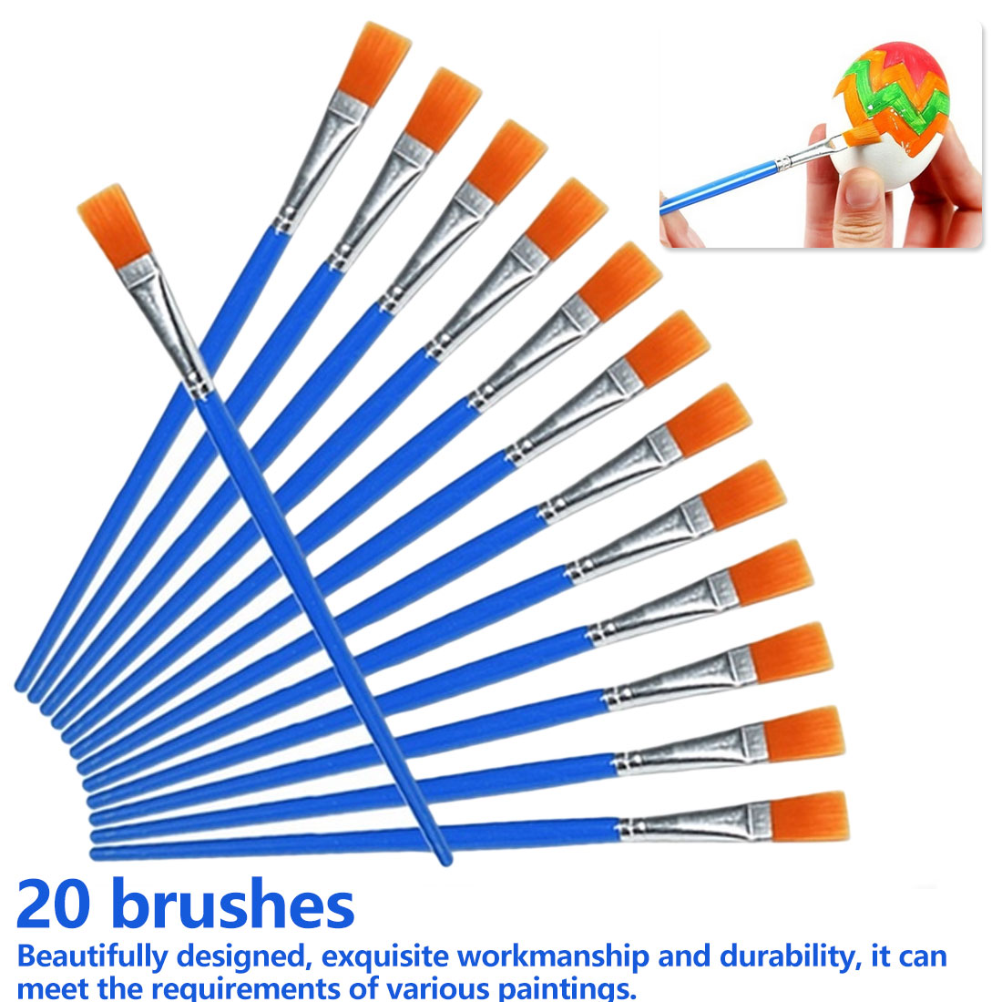20 Pieces Same Size Small Fine Nylon Hair Paint Brushes For Drawing Watercolor Brushes Paint Brushes Pen For Artist Suppliers