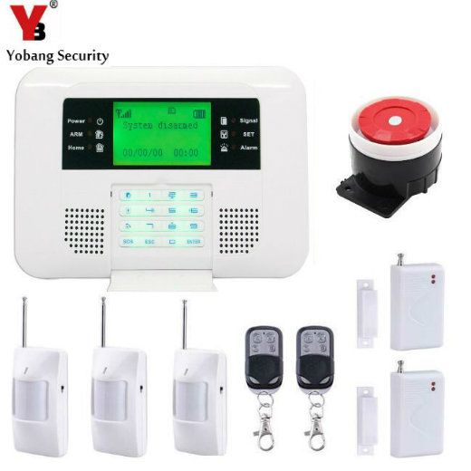 YobangSecurity English Russian Spanish Voice wireless GSM PSTN Home Security alarm system with PIR Detector Door Window Sensor yobangsecurity dual network gsm pstn home security alarm system lcd keyboard english spanish russian voice prompt alarm sensor