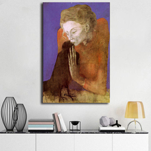 Woman With A Crow By Pablo Picasso HD Canvas Painting Print Living Room Home Decor Modern Wall Art Oil Poster Framework