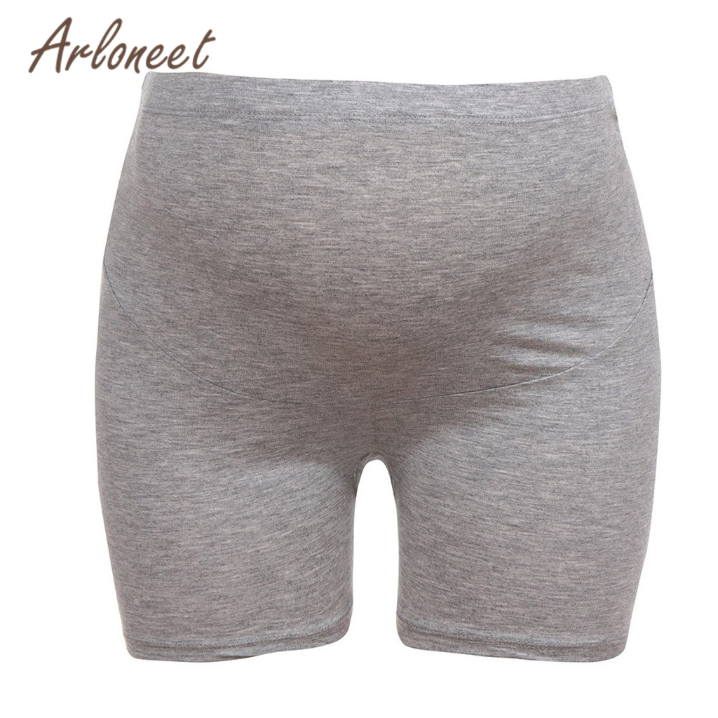 ARLONEET Clothes Sexy women maternity   shorts   High waist Solid Cotton   shorts   2019 Summer ladies pregnancy Jeans Casual clothes