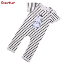 COSPOT Baby Boys Girls Striped Romper Infant Summer Tank Jumpsuit 2017 New Fashion Rompers for Newborns Boy Girl 30C