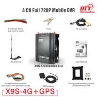 720 p HD Auto Taxi Fahrzeug HDD GPS DVR, Video Recorder 4 kanal mobile mdvr mobil dvr, X9s-4G