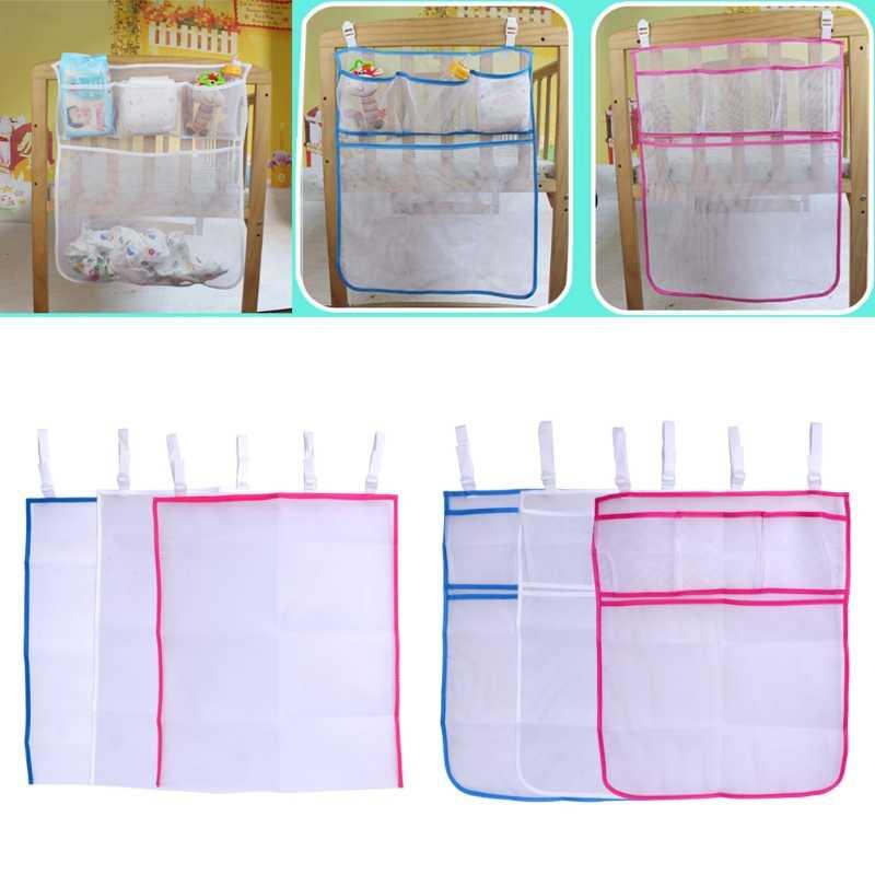 2018 детская кровать висячая сумка для хранения для кроватки Органайзер игрушка карман для пеленок для постельное для колыбели JUN10_17