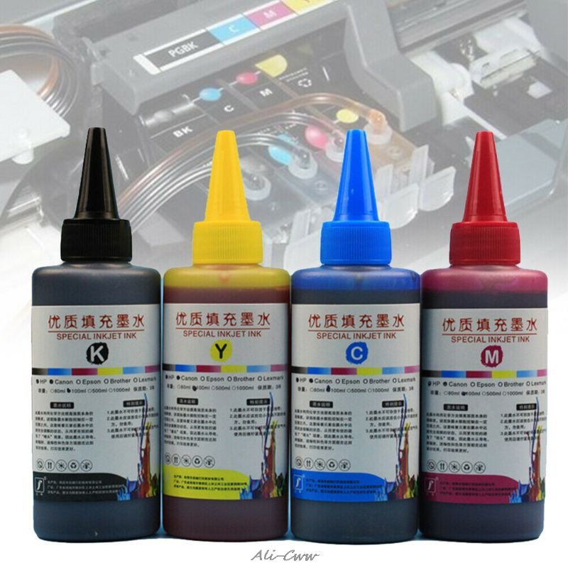 100ML Refill Ink Kit Universal Dye Printer Supplies Desktop Printing Paper Replacement For Canon PG-245 CL-246 PIXMA MG2420