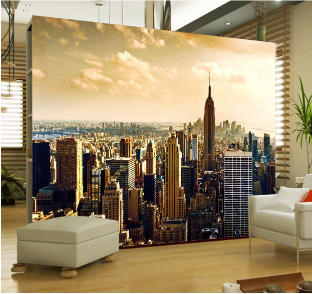 City Wall Murals 3D Large Mural for Living Room Bedroom Sofa Wall ...