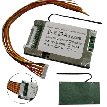 цена на 10S 36V 30A Li-ion Protection Board Li-ion Cell 18650 Battery Protection BMS PCB Board With Balance for Electric Car Inverter