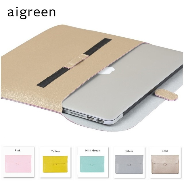"2017 Newest Brand Fashion PU Leather Sleeve Case For Macbook Air 13.3"" Retina 13.3, 13 inch Laptop Bag Pouch, Free Drop Shipping"