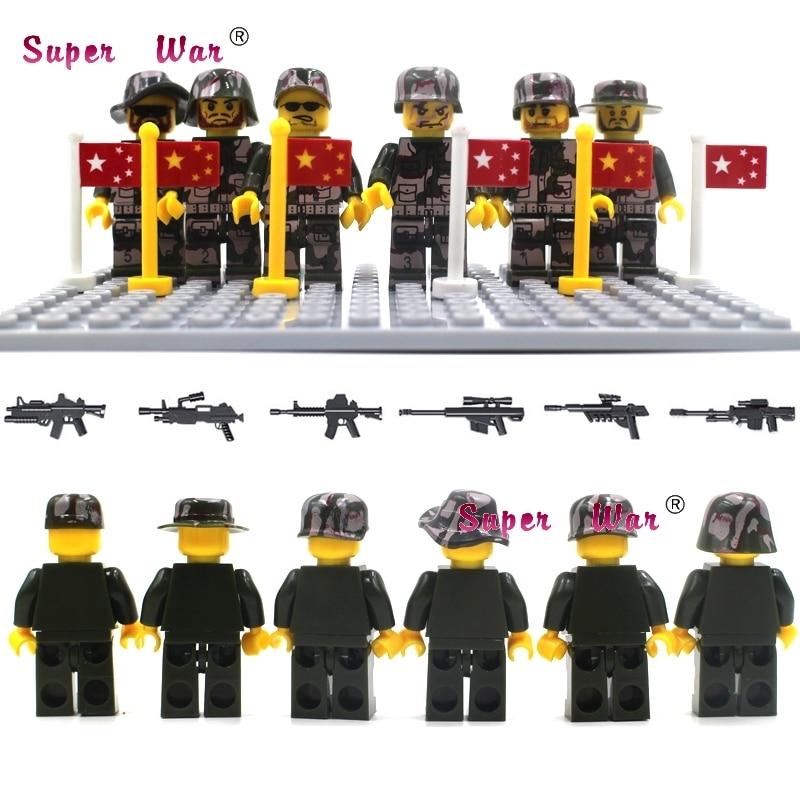 6pcs star wars Military Modern Battlefield Navy Police building blocks action sets model bricks toys for children