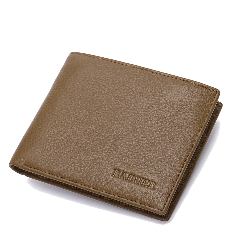 MAIFEINI New Arrival Genuine Leather Bifold Wallets Men Cow Leather Card Holder Coin Purse Clutch Money Bag Bolsa цена и фото