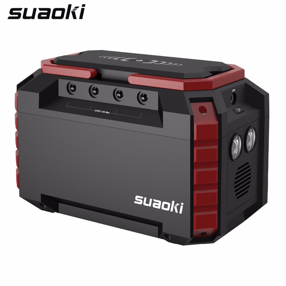 <font><b>Suaoki</b></font> <font><b>S270</b></font> 150Wh Portable Charging Station Mini Solar Generator with 2 AC 4 DC Ports for Camping Travel Emergency image