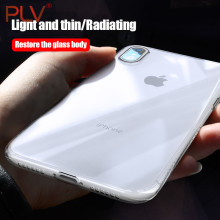 PLV Phone Cases For iPhone X 8 8 Plus 5 5s SE Case Ultra Thin Soft Transparent TPU Cases For iPhone 6 6s 7 7 Plus Case Cover