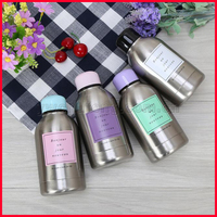 Hot sell double layers stainless steel 304 vacuum insulate flask cute candy color gift bottle water mug 300ml lovers belly cup