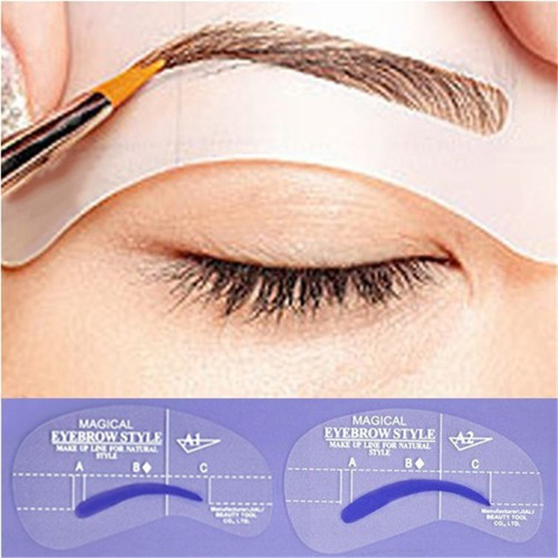2017 Hot 24 Styles Eyebrow Shaping Template Diy Beauty Stencils