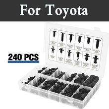 240 шт. Пластик клип Removal Tool брызговик trim push автомобиля с заклепками для Toyota Prius C Probox Progres pronard RAV 4 Rush SAI