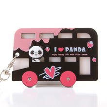 Creative Cartoon Card Cover Bus Card Holder Key Chain Bag Korea Cute Pack  Women's Card Holder Porte Carte Card Wallet