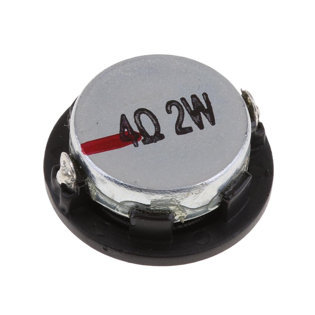 28mm 2W Stereo Audio Speaker 1' Inch 4Ohm Full-range DIY Loudspeakern New Carbon Fiber & Rubber Edge Material Durable