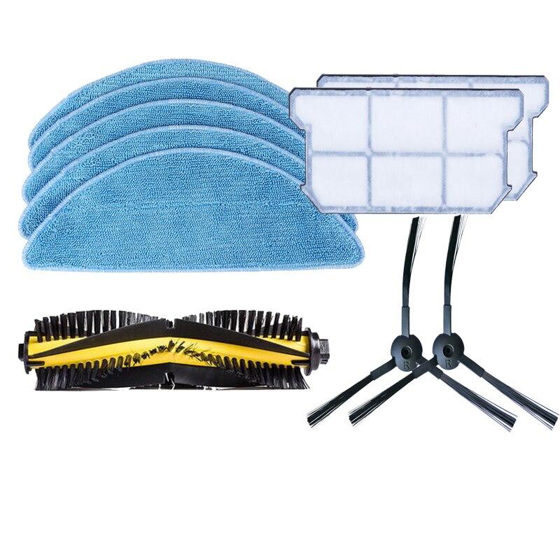 Основной ролик щетка боковая щетка Тематические товары про рептилий и земноводных mop ткань Эффективное пыли hepa фильтр комплект для Chuwi iLife V7