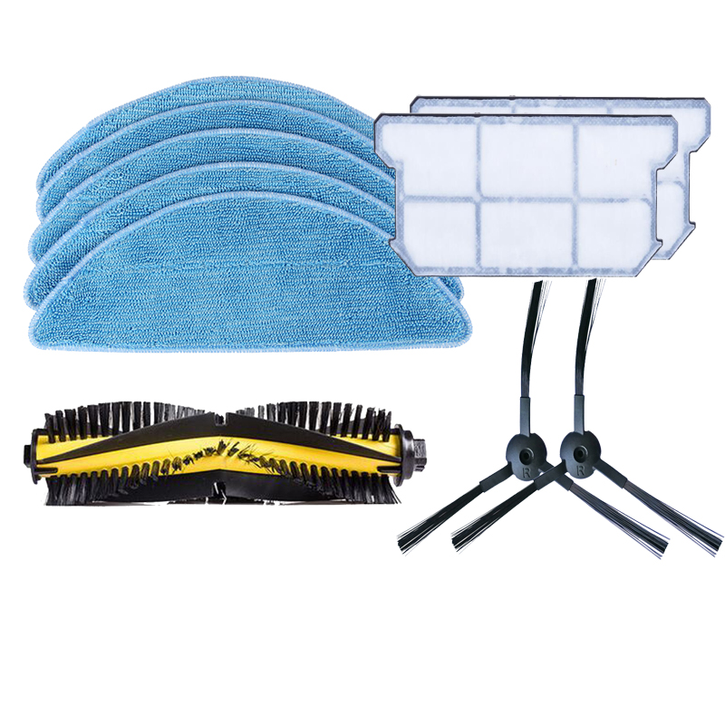 main roller brush side brush Cleaning Mop Cloth Efficient dust hepa filter kit for chuwi ilife v7 Robotic Vacuum Cleaner parts cheapest 1pcs cleaning mopping cloth 3 pair hepa filter 3 pair cleaner side brush for dt85 dt83 dm81 vacuum cleaner for house