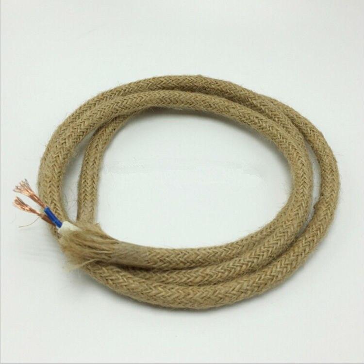 5 m partij edison vintage ronde elektrische draad loft touw kabel