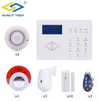 Фокус Беспроводной GSM PSTN сигнализации системы комплект приложение дистанционное управление 433 мГц умный дом охранной с движения PIR сенсор д