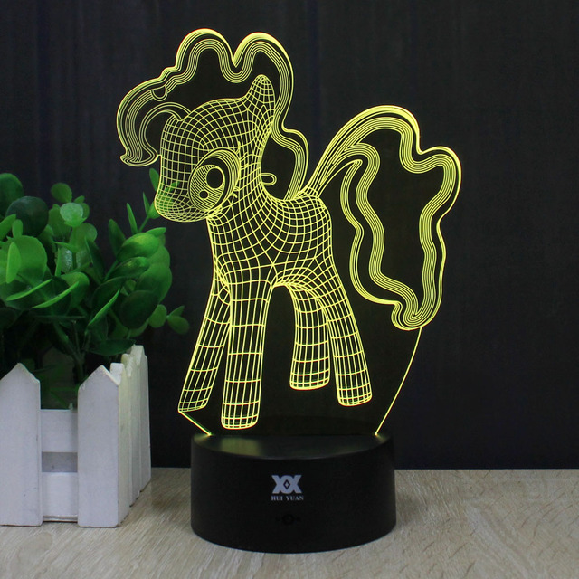 HY Psychedelic Dog 3D Remote LED Night Light Touch Table Desk Lamp 7 Color Change USB LED Charger Gift Multifunction Card