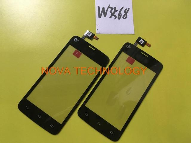 Sensor de teléfono panel de pantalla táctil de cristal digitalizador de piezas de repuesto para philips w3568 china verson; con número de seguimiento