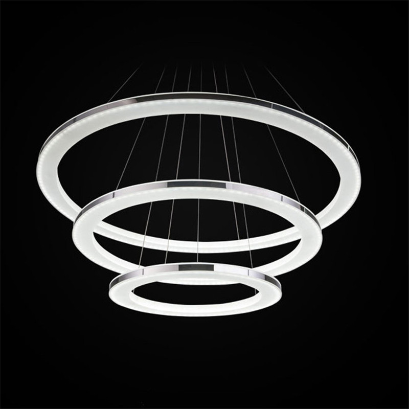 LED Ring Pendant Lights Modern Design Kitchen Acrylic Suspension Hanging Ceiling Lamp Dining Table Home Lighting LED Lustre horsten modern simple led pendant lamps dining pendant lights aluminum acrylic ring hanging lamp restaurant home lighting 220v