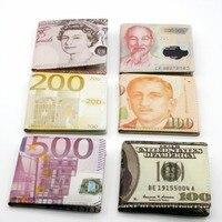2015 New Male Baridian US 100 Dollar Bill Fake Money Short Purses Billeteras Hombre Women S