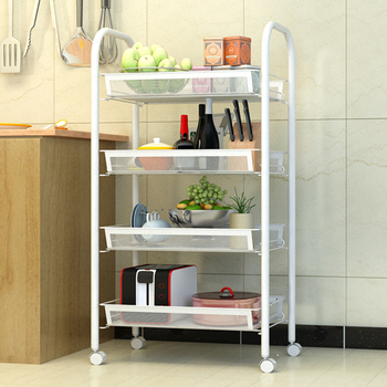 B 5-tiers Kitchen Shelf Bakers Rack Kitchen Cart Stand Bathroom Storage Rack Shelving Organization With Wheels