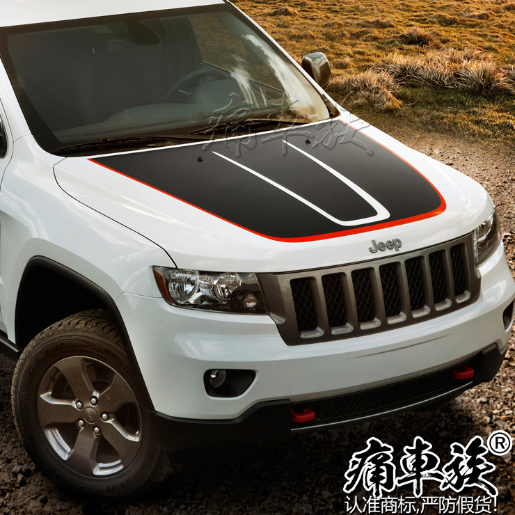 Head Car Stickers Car-Styling Decoration For Jeep Grand Cherokee Front Engine Cover Special Stickers