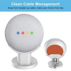 Image 3 - Nieuwe Desktop Stand Voor Google Thuis Mini Voice Assistenten, Compacte Houder Case Plug In Keuken Slaapkamer