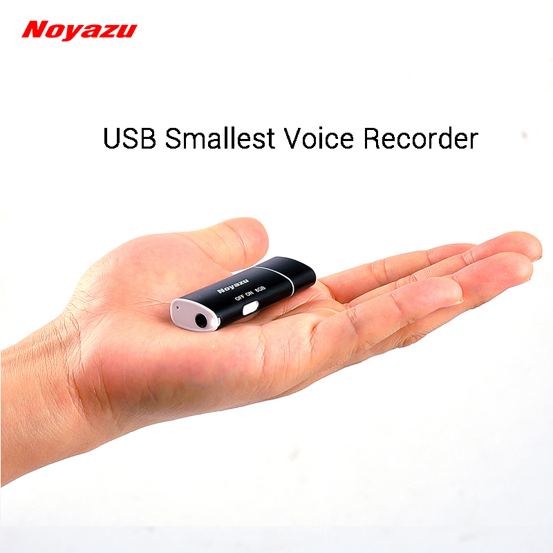 Noyazu V17 Perakam Suara USB Terkecil Voice Activated Digital Audio Recorder Portable Mini Voice Recorder Mp3 Player 8GB