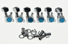 Chrome 6 Inline Tuning Keys Guitar Tuners Machine Heads for Strat Tele