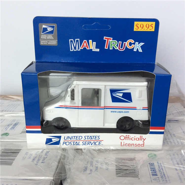 2173659c62 ... Simulation pull back car inertia car model truck mall truck postal  service mini pocket children s toy