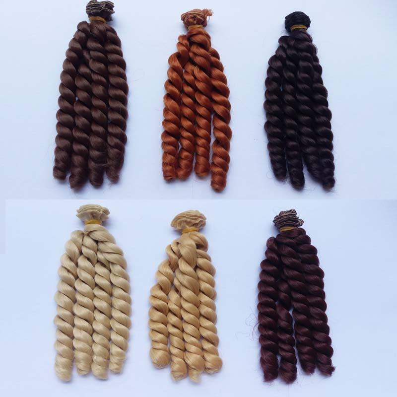 20 PCS/LOT en gros 20 CM poupée synthétique cheveux bouclés cheveux pour BJD poupée bricolage-in Poupées from Jeux et loisirs    1
